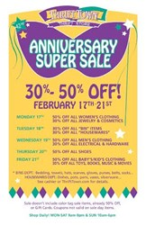 Thrift Town's Anniversary Sale