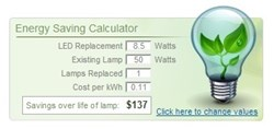 1000Bulbs.com LED Energy Calculator