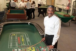 Loves second career as casino dealer