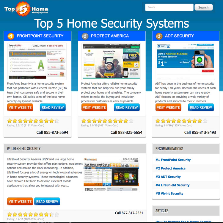 Names of home security systems