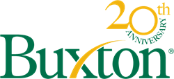Buxton Logo with 20th Anniversary Logo