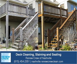 Nashville Wood Deck Cleaning - Renew Crew