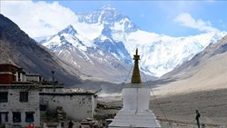 Rongbuk is said to be the best place to shoot Mt. Everest.