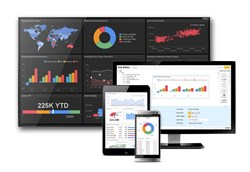 Klipfolio provides an online dashboard platform for building powerful real-time business dashboards