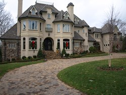 Home with exterior stone accents by Masters Stone Group in Charlotte
