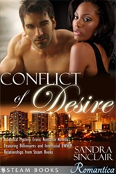 An image of the ebook, 'Conflict of Desire'
