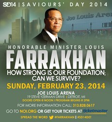 Minister Louis Farrakhan delivers keynote address in Detroit, MI., Feb. 23, 2014