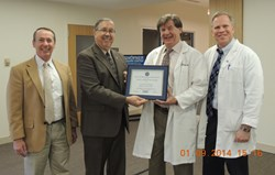 Dr. Shofner Receives Above and Beyond Award January 2014