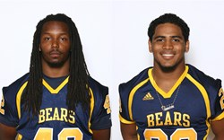 Phoenix College's Timothy Patterson (left) and Damon Hendrix (right) are headed to play at Division I schools this fall, 2014.
