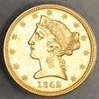 This $5 denomination gold coin was struck in 1842 in Dahlonega and will be displayed with other historic Georgia coins and paper money at the National Money Show in Atlanta.