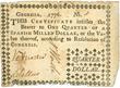 This 1776-dated note for a quarter-dollar is one of the early examples of Georgia money that will be displayed at the National Money Show in Atlanta, Feb. 27 - Mar.1, 2014.