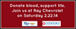 Ray Chevrolet Hosts Blood Drive Saturday, 2/22