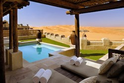 A room at the Qasr al Sarab hotel in the UAE