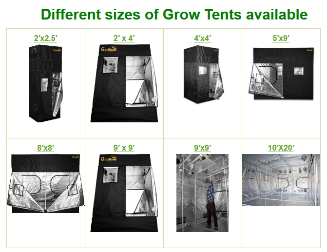 Grow tent sizesDifferent sizes of grow tents available for Indoor gardning ...  sc 1 th 197 & Grow Tents: Best Growing Tents for Hydroponics and Indoor ...