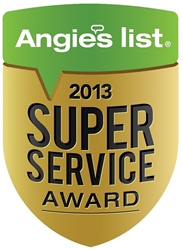 Esteemed 2013 Angie's List Super Service Award