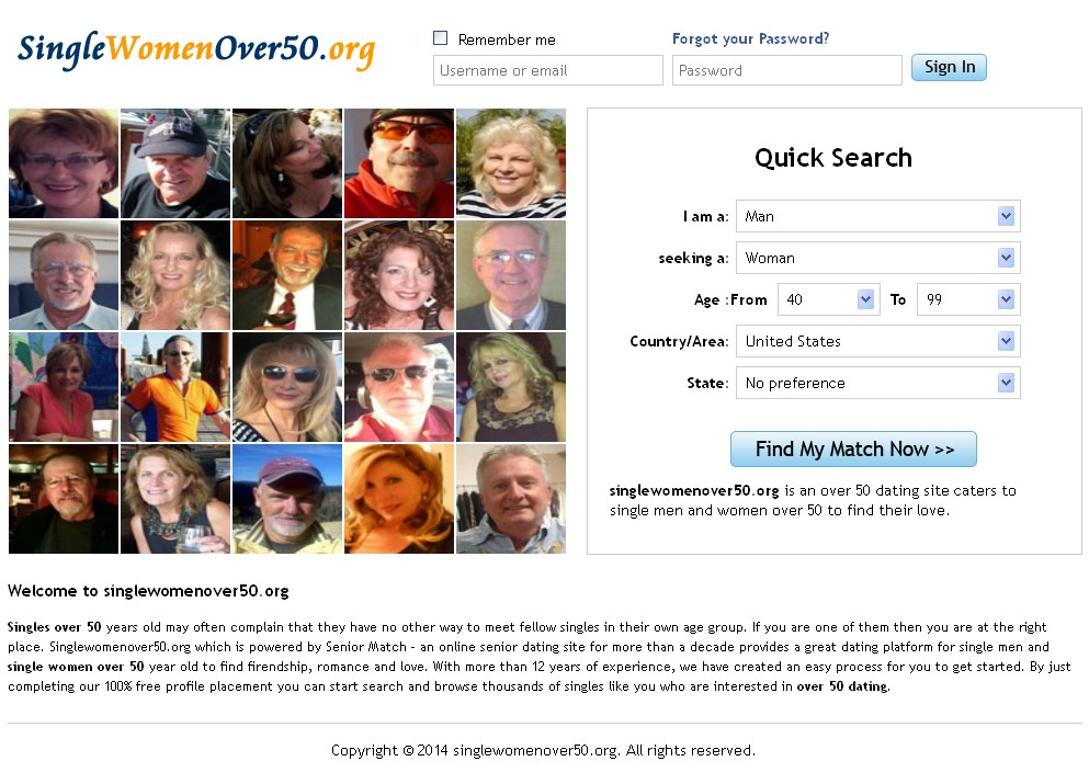 The Official Over50 Dating Site
