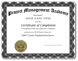 Project Management Academy Blog PMP PDU Sweepstakes Certificate