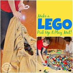 DIY LEGO storage and play mat