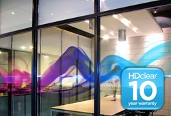 HDClear decorative window film 10 year warranty