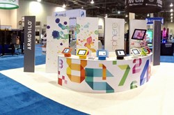 Armodilo iPad Kiosk / Tablet Display Stand / Sphere Debut at DSE 2014