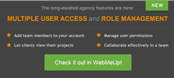 Multiple user access - now in WebMeUp SEO software!