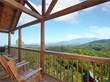 mountain views from covered porch overlooking forest