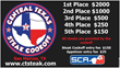 Central Texas Steak Cook-off  pay outs
