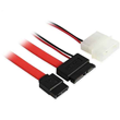 Slim SATA 13P to SATA 7P + 4 pin power Cable