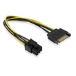 SATA 15-pin Male to 6-Pin PCI Express card Power Cable