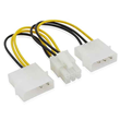 4-pin Molex X 2 to 6-Pin PCI Express card Power Cable