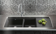 blanco precis multi-level bowl with drainer in anthracite 440408