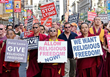 DC: Buddhists protest over Dalai Lama's religious discrimination on American soil, and his refusal of dialogue
