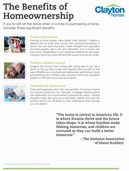 Benefits of Homeownership graphic