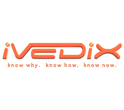 ivedix logo and tagline know why. know how. know now.