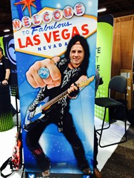 Fluid Branding's Director Matt Franks at Las Vegas PPAI Expo