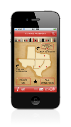 Texas Wine Passport iPhone app