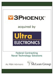 3 Phoenix Acquired by Ultra Electronics Tombstone