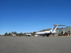 Private Jets Arriving At Mont-Tremblant International Airport