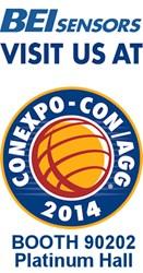BEI Sensors Booth 90202 Platinum Hall CONEXPO-CON/AGG