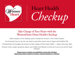 WomenHeart launches Heart Health Checkup