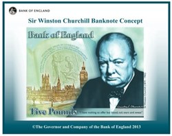 New £5 plastic banknote proposed design