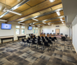 Birch and other light materials create open, airy feel in Teton County School District board room.