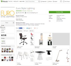 Houzz Profile for Euro Style Lighting Features Designs and Community Discussion Boards