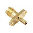 SMA Female Crimp Rectangle Flange For RG316 RF Connector