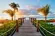 The Tuscany boardwalk leading to beautiful Grace Bay beach!