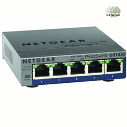Netgear Green ProSAFE Plus GS105E Gigabit Ethernet Switch available at VoIP Supply