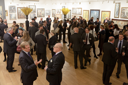 Guests at the Mall Galleries