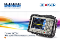 Deviser E8000 Series Handheld Spectrum Analyser from Phoenix Datacom