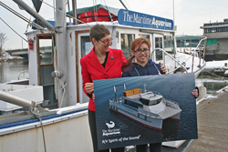 Maritime Aquarium Name the Boat Contest winner