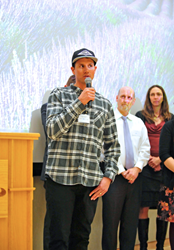 4FRNT Skis co-owner Matt Sterbenz, speaking recently at a gathering of small business owners at Salt Lake Community College's South City Campus in Salt Lake City